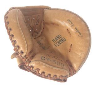 Vintage Baseball Glove Catchers Mitt All-Star CM-500 Professional Model Leather