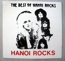 Rare Best Of Hanoi Rocks 1985 Vintage Original Unused Punk Music Decal Sticker