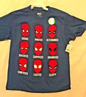 "NWT SPIDERMAN Youth S/Sl T-Shirt-Sz L (10-12)Cotton- ""Glows in the dark"" Marvel"