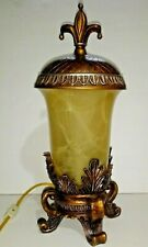 """Home Decor Accent Footed Lamp Light Ornate  soft light 17.5"""" High 8"""" Wide"""