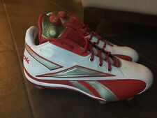 Reebok PuMP NFL Mid Football Cleats Mens sz 14 Red/silver/White Redskins Shoes