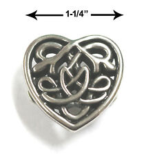 "CONCHO ANTIQUE SILVER 7933-05 CELTIC HEART CONCHO 1-1/4"" CELTIC ART CRAFT"