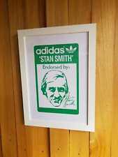 Adidas Endorsed by Stan Smith A3 Framed Art Screen Print