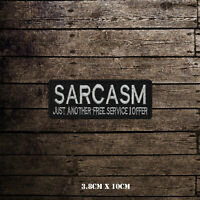Sarcasm Slogan Bikers Embroidered Iron On Sew On Patch Badge