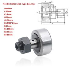 KR80(CF30) 80mm Cam Follower Needle Roller Stud Type Track Bearing 30mm Bolt Kit