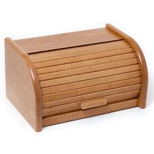 HolzFee Brotkasten 30 cm Holz Eiche Brotbox Rollkasten Brot Rollbrotkasten