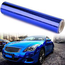 152cmx30cm Dark Blue Car Glossy Chrome Mirror Vinyl Wrap Film Roll Sheet Sticker