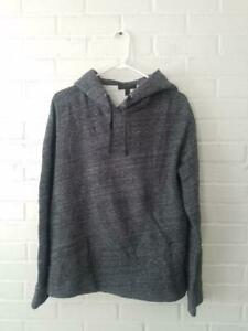 J Crew Women's Size Small Gray Over-sized Fleece Hoodie Sweatshirt B1477 Marled