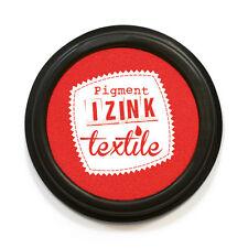 IZINK textile Stempelkissen 7 cm rund Stoff stempeln Farbe santal (rot)