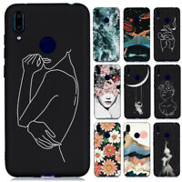 For Huawei Y6 Y7 2019/Y5 Y6 Y7 2018 Slim Soft Silicone Painted TPU Case Cover