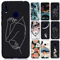 For Huawei Y6 Y7 2019/Y5 Y6 Y7 2018 Slim Soft Silicone Painted TPU Case Cover
