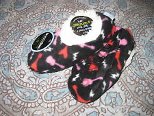 SNOOZIES KIDS SLIPPERS SIZE 11 / 12 GUITAR RED PINK BLACK