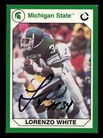 Lorenzo White 31 signed autograph 1990 Michigan State Collegiate Collection Card