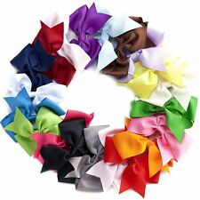 20pc LOT Baby Girls Big 6 Inch Hair Bows Alligator Hair Clips-Baby Girl Gift Set