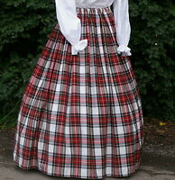 Ladies Victorian skirt  Dress Stewart tartan costume fancy dress Hogmanay