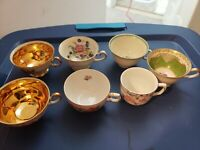 Vintage lot 8 Porcelain Demitasse cups some Hutschenreuther All made in Germany
