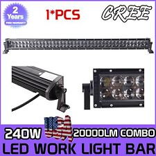 4D+42INCH 240W CREE LED WORK LIGHT BAR SPOT FLOOD COMBO FOR JEEP UTE SUV TRACTOR