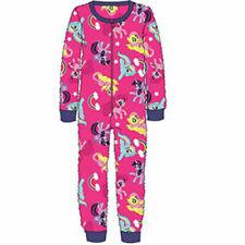 Official Licensed Girls My Little Pony Pink Fleece All In One Bodysuit Pyjamas