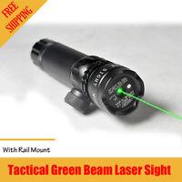 Tactical Green Laser Sight Rifle Switch Picatinny Dot Scope W/ Rail Barrel Mount