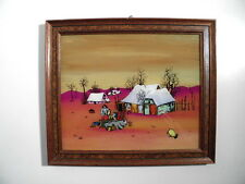 Beautiful Old Naive Painting - Probably Yugoslavia - Signed - Hinterglas Picture