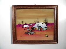 Schöne alte Naive Malerei - wohl Jugoslawien - signiert - Hinterglas Bild