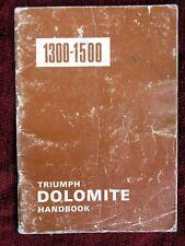 Triumph Dolomite 1300-1500 Handbook