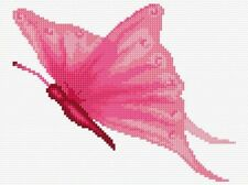 "Pink Butterfly - Mini/Starter Cross Stitch Kit 6"" x 8"" - 14 Count Aida, Anchor"