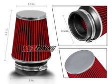 "3.5 Inches 3.5"" 89 mm Cold Air Intake Cone Narrow Air Filter RED Acura/Honda"
