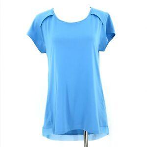 Champion Top Womens Medium Blue Activewear Peak-a-Boo Back Lightweight Shirt