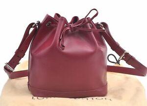 Authentic Louis Vuitton Epi Noe BB Shoulder Bag Fuchsia Purple M40844 LV D0439