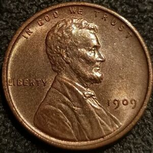 1909 VDB Lincoln Wheat Cent Penny 1c BU Uncirculated Detail Toned P2300
