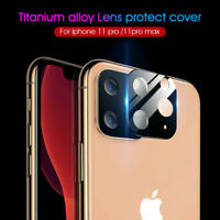 For iPhone 11 Pro Max FULL COVER Tempered Glass Metal Camera Lens Protector