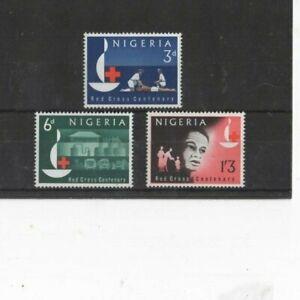 NIGERIA , 1963 ' RED CROSS CENTENARY ' SG135/7 TYPE 85  MNH + GUM SET     G.C.V.