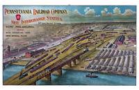 "1902 Pennsylvania Railroad Yard, West Philadelphia Poster - Art Print 11"" x 17"""