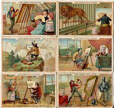 Chromo Liebig Sang. 250 TED Pittori II (caricature) ANNO 1889