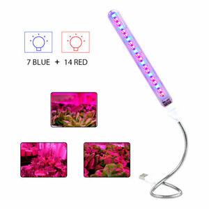 Full Spectrum USB LED Plant Grow Light Bar Tube Bulb Indoor Flower Grow Lamp