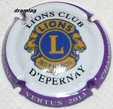 Capsule de Champagne:  Extra !!!!   LIONS CLUB  Epernay , Vertus 2013 !   n°49