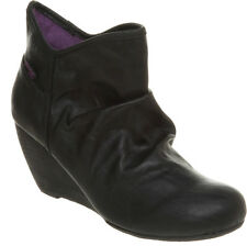 Blowfish Hillis Wedge Heel Ankle Boots Black Size 3 New £29.99 RRP £65.00