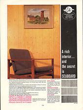original large colour advert 1962 . seaboard - canadian douglas fir plywood