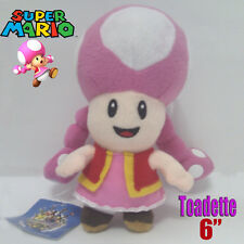 Toadette Super Mario Bros Female Plush Soft Toy Stuffed Animal Figure Doll 6""