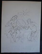 COCTEAU Jean -  L'allégeance d'Apollon - ithographie N&B  #1947