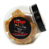 INSANE - SUPER-HOT CAROLINA REAPER CHILLI  FUDGE LARGE 250g JAR