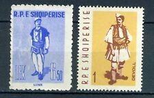 Albania stamps: 1961-2 Costumes;  SC#587 & SC#636; MNH; CV=$7.00