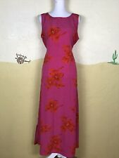 Kathie Lee Collection Women's Size 10 Dress Straight Maxi Pink Floral Sleeveless