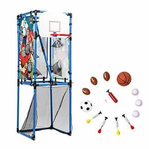 Sport Squad 5-in-1 Multi-Sport Toss Game Set - Play Football Baseball Basketb...