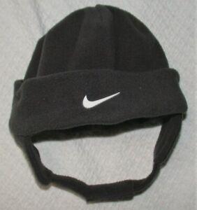Infant NIKE Gray Fleece Trapper Winter Ski Cap Hat Baby Warm Soft Chin Strap