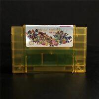 Super 68 In 1 Snes Nintendo Multi Cart Game Cartridge Battery Save Us Versions