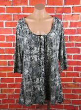 "MILLERS SIZE 18 PLUS WOMANS, ANIMAL PRINT BLOUSE ""NEW"""
