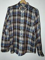 Men's Rodd & Gunn New Zealand Italian Fabric Linen Plaid Shirt Sz. M UNWORN