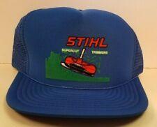 vintage STIHL Supercut Trimmers Trucker Hat New snapback cap Chainsaws blue